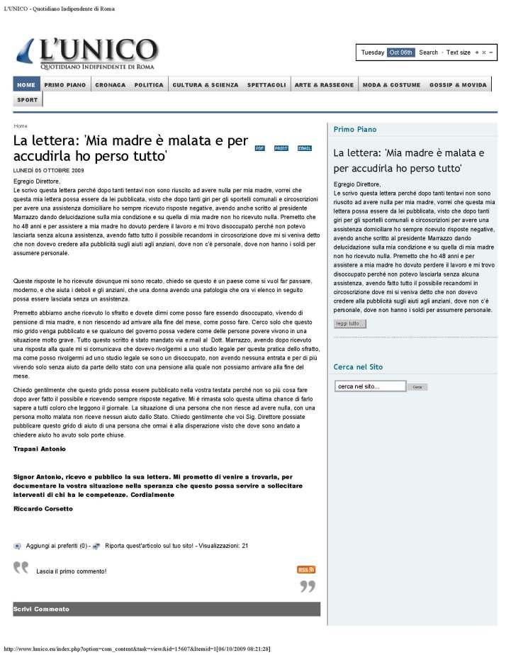 L'UNICO - Quotidiano Indipendente di Roma_Page_1