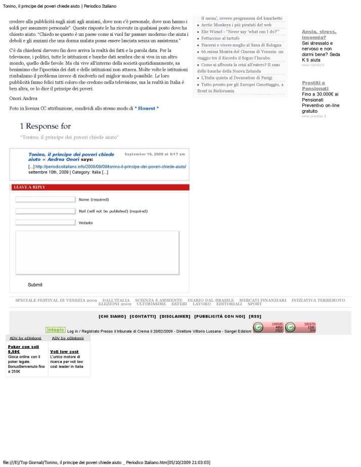 Tonino, il principe dei poveri chiede aiuto _ Periodico Italiano_Page_2